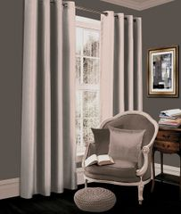 Thermal blackout silver eyelet curtains