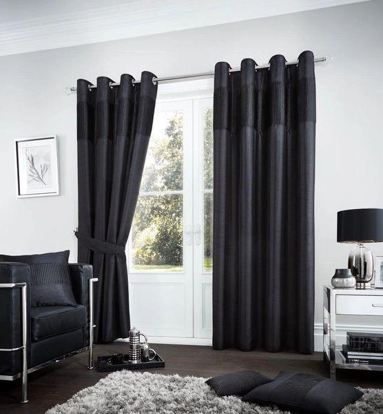 Fuel black eyelet curtains