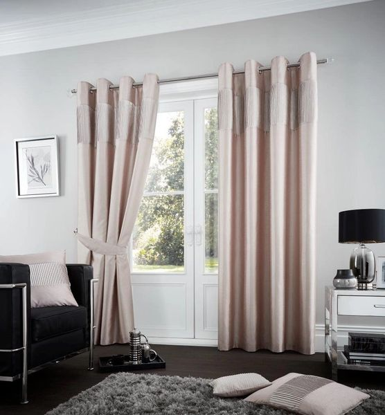 Fuel champagne eyelet curtains