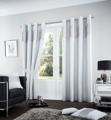 Fuel silver eyelet curtains