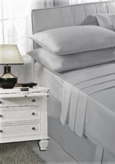 Silver grey fitted sheet