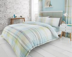 Jackson Check green cotton blend duvet cover