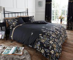 Maria black cotton blend duvet cover