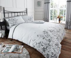 Maria grey cotton blend duvet cover