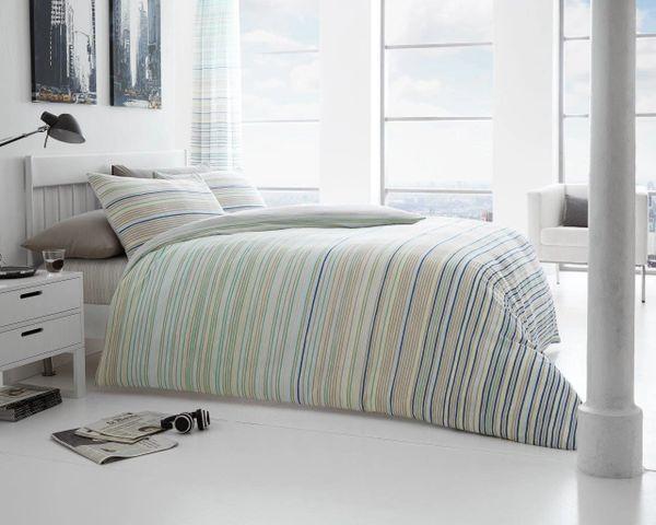 Andrea natural cotton blend duvet cover
