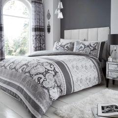 Kira grey cotton blend duvet cover