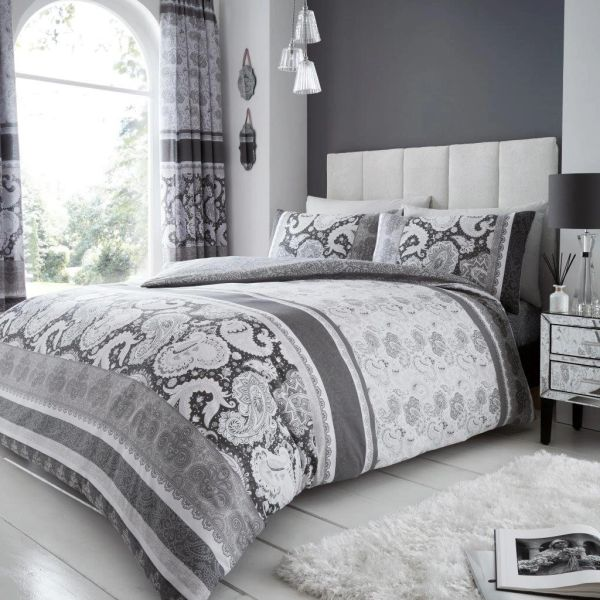Kira grey duvet cover