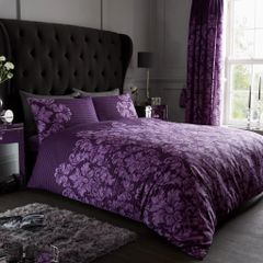 Empire purple duvet cover