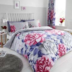 Aubrey grey cotton blend duvet cover