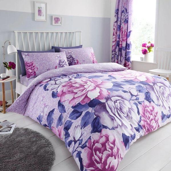 Aubrey purple duvet cover