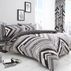 Austin grey cotton blend duvet cover