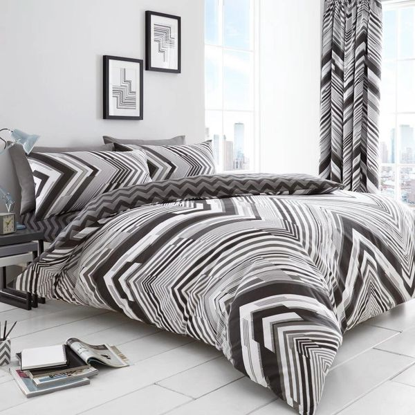 Austin grey duvet cover