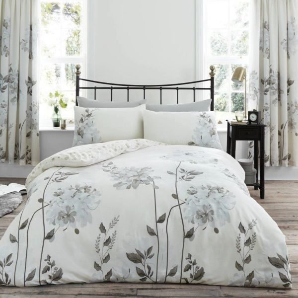 Camilla natural cotton blend duvet cover