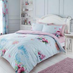 Madeline blue cotton blend duvet cover