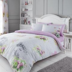 Madeline grey cotton blend duvet cover