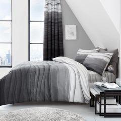 Wave Ombre grey cotton blend duvet cover