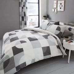 Alexa grey cotton blend duvet cover