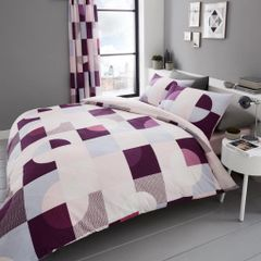 Alexa pink cotton blend duvet cover