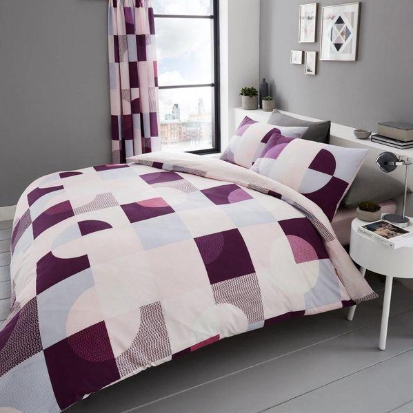 Alexa pink cotton blend duvet cover