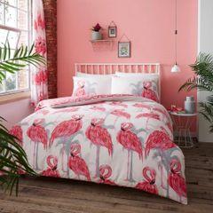 Flamingo cotton blend duvet cover