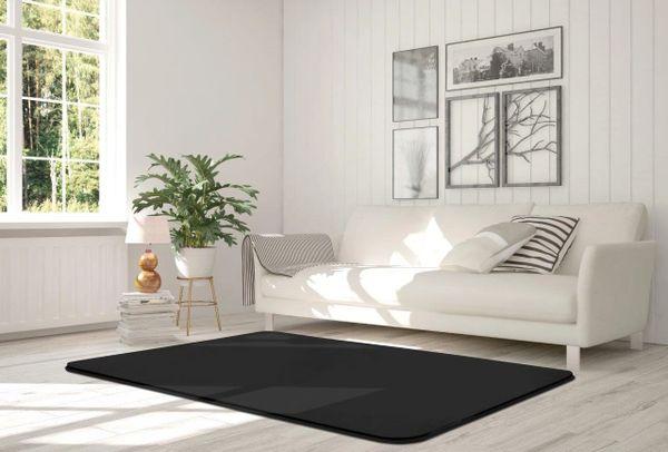 Velvet black rug