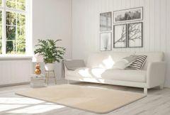 Velvet cream rug