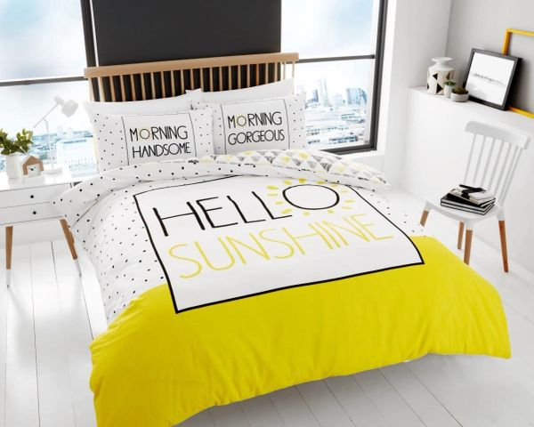 Hello Sunshine cotton blend duvet cover