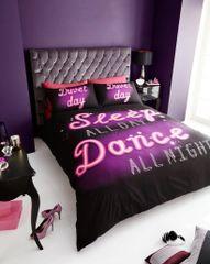 Neon Slogan cotton blend duvet cover