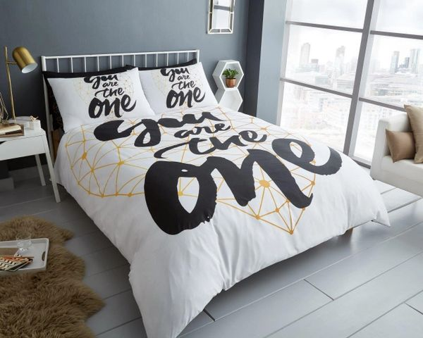 You Are The One cotton blend duvet cover