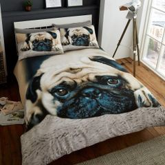 3D print Sweet Pug cotton blend duvet cover