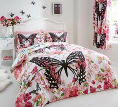 Floral Butterfly cotton blend duvet cover