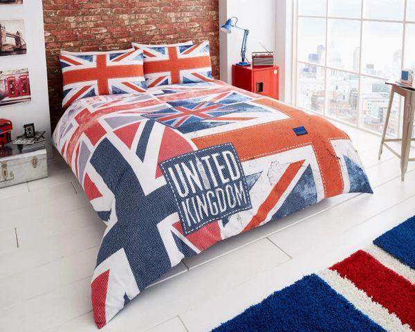 Denim Flag cotton blend duvet cover