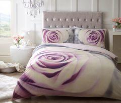 Pretty Pastel Rose cotton blend duvet cover