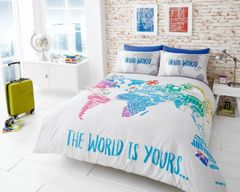 The World Is Yours cotton blend duvet cover