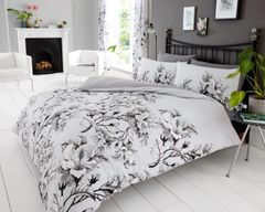 Eden grey cotton blend duvet cover