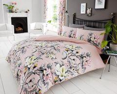 Eden pink cotton blend duvet cover