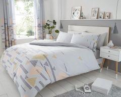 Benton grey cotton blend duvet cover