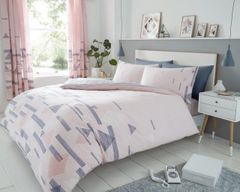 Benton pink cotton blend duvet cover
