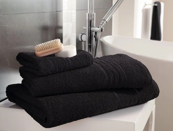 Hampton black Egyptian Cotton towels