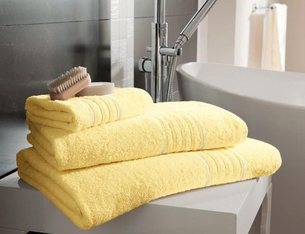 Hampton lemon Egyptian Cotton towels