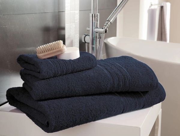 Hampton navy blue Egyptian Cotton towels