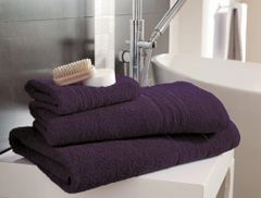 Hampton purple Egyptian Cotton towels