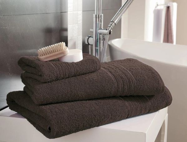 Hampton walnut Egyptian Cotton towels