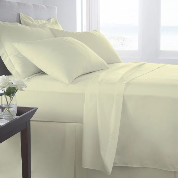 Cream Egyptian Cotton 400 TC fitted sheet