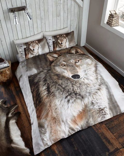 3D print Wolf duvet cover