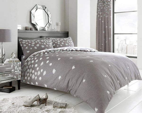 Be Jewelled grey duvet cover