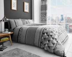 Madison grey cotton blend duvet cover