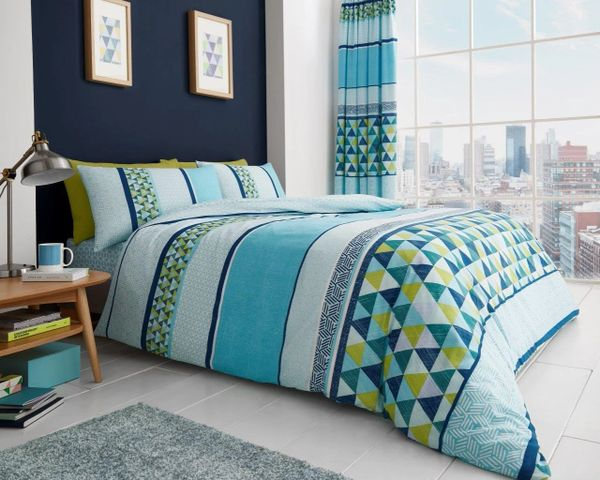 Madison teal duvet cover