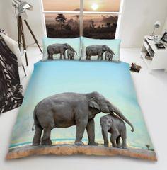 3D print Elephant cotton blend duvet cover