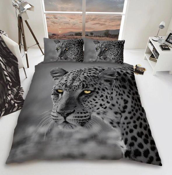 3D print Grey Leopard duvet cover